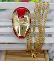 allied glass - 2016 New Fashion quartz design Iron man Revenge Allies Children s cartoon pendant best gift Necklace watches