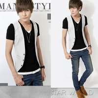 Wholesale spring and summer new Korean version of the influx of men cultivating small vest fashion men s fashion casual vest white