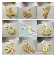 Wholesale Korean style gold plated metal bookmark No rust cute Exquisite multi styles gift bookmark