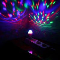 Wholesale Hot Sales B22 W Crystal Bulbs Light RGB LED Colorful Rotating Lighting Stage Disco Party DJ Mini Bar DA1 HG1