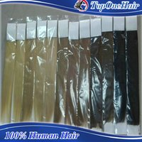 Wholesale High quality European peruvian brazilian tape in hair extensions blonde color Human hair weaves remy hair extensions