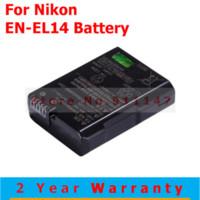 batery pack - Original EN EL14 enel14 En el14 Camera Battery batery batteries pack For Nikon D5200 D3100 D3200 D5100 P7000 P7100 MH BN5