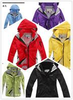 Wholesale Hot sale new Fashion woman outdoor sports Jacket Womens waterproof warm breathable in1 coat camping hiking windbreake