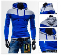 Wholesale 2015 Spring Fashion Mens Sweatshirts Sports Hoodies Stitch Design For Hip Hop Men Sexy Tracksuits Man Fleece Hoody Plus Size XL