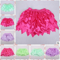 Wholesale 8 colors Top Quality candy color kids tutus skirt dance dresses soft Leaf tutu dress ballet skirt children pettiskirt LJJD2244