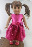 Wholesale Hot selling popular inch american girl doll clothes and accessories rose red dress style