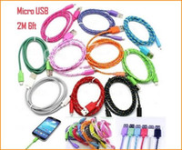 extension cord - 3M FT FT m Long M Extension USB Fiber Braided Charger Cable Sync Data Fabric Knit Nylon Chargring Cord Wire For cellphone Smartphone