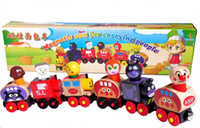 Wholesale Magnetic Wooden Trains Toys Anpanman Trains Best Christmas Gifts children Educational Toys Fedex DHL