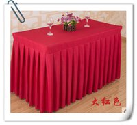 Wholesale Hot Sale cm Polyester Table Skirt amp Wedding Table skirting