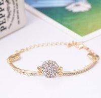 Ordre minimum est $ 9 Été nouvelle arrivée de la mode or plaqué anneau de la main Rhinestone avancé bijoux inlaying en cristal