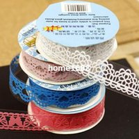 Wholesale handmade photo album photo album diy accessories cutout lace tape stickers Small meters