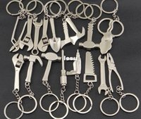 adjustable wrench - Keychain Metal Adjustable Tool Wrench Spanner Keyring Creative