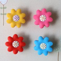 baby dressers - Non toxic Eco Soft PVC Sunflower Knob Baby Room Wardrobe Handle Drawer Pull Closet Dresser Handles Knob