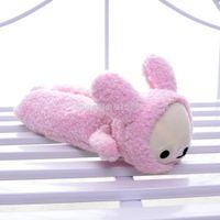 Wholesale Soft Lovely San x Pink Rilakkuma Bear Wear Bunny Coat Plush Girls Kids School Pencil Pen Case Bag Pouches quot Brand