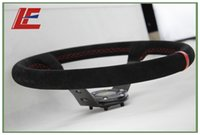 Wholesale Black inch mm OXP Suede Leather Deep Corn Drifting Steering Wheel Red String Red ring