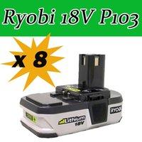 Wholesale via ems Pieces Ryobi V Battery Compact Lithium Ion battery Ryobi P103 order lt no track