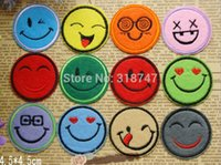 Wholesale 4 cm Smiling Face Patch Expression Combination Embroidered Sew On Embroidery
