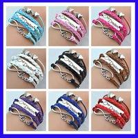 Wholesale Infinity bracelets HI Q Jewelry fashion Mixed Infinity Charm Bracelets Silver Style pick Infinity Bracelets hotest