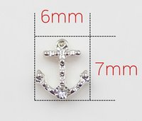 Charms anchor charm lot - Crystal Anchor Floating Charms Fit For Magnetic Living Locket DIY Jewelry Findings