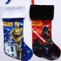 Wholesale Star Wars Christmas socks Frozen Darth Vader gifts socks bags for Kids styles high quatlity colorful Christmas gifts
