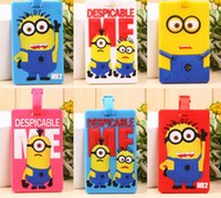 Wholesale luggage tags silicone Despicable me minions luggage card travel luggage tags Despicable me luggage tags minions with address card