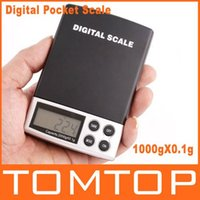 Wholesale 1000g x g Portable Digital Jewelry Pocket Weight Digital Scale Electronic New Balance Weighing Scales order lt no track