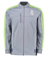 Wholesale Cheap N98 Real Madrid soccer jacket jersey white Sports Suit Embroidery Logo black football Training Jacket shirt