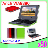 Wholesale DHL Inch Dual core Android VIA Netbook Notebook Google with Camera HDMI MB GB MINI Laptop ZY BJ