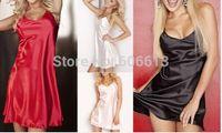nighties - Hot Satin Chemise Nightdress Luxury Nightwear Sleepwear Slip Nightie colors available