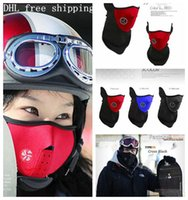 bicycles - Neoprene Neck Warm Half Face Mask Winter Veil Windproof For Sport Bike Bicycle Motorcycle Ski Snowboard Outdoor Mask Men Women DHL Balaclava