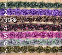shabby flower trim - 2 quot Chiffon Frayed Flowers Shabby Rose trim Shabby Flower Rose Trim Fabric Flower Set Shabby Chic printed Rose Trim