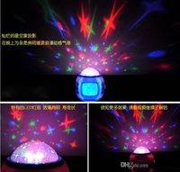 Wholesale Magic Projection LED Sky Star Master Night Light Projector Lamp Bed Lazy Digital Alarm Clock Calendar Creative Mini Children s Gifts Home