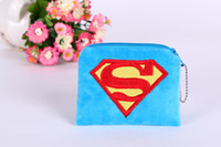 Wholesale 2016 new Cute wallet Superman Doraemon Hello kitty coin purse cartoon pattern children s bag for phone or coin MQT