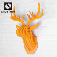 antler crafts - Vintage cool wood animal deer antler home interior carving gifts and crafts