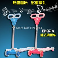 four wheel electric scooter - Frog scooter breast stroke Steel Folding skateboard slide car foot kick board music four Flashy Wheel Height Electric Unicycle