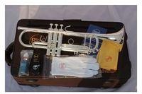 bach silver trumpet - Pengiriman gratis sangkakala Vincent Bach LT S Baja terompet Alat musik LT18S B datar tiga catatan trumpe