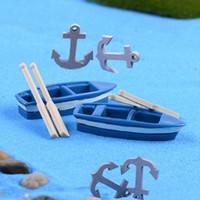 aquarium moss - 10pcs Sea Ocean Miniature Beach Sailing Boat Anchors Dollhouse aquarium Fairy garden decoration Terrarium Moss Resin Crafts DIY
