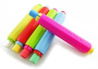 Wholesale chalk holder non toxic dust clean hold for teacher children home education on board hair