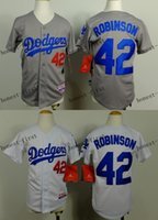 robinson - youth los angeles dodgers jackie robinson Cheap Wholesales Baseball Jersey Embroidery Name and Logo EME DHL