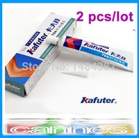 Cheap Free shipping 2pcs lot 45g Kafuter Silicone Industrial Adhesive 704 RTV Silicone Rubber White Glue