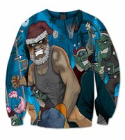bad santa - Real USA Size Bad Santa D Print Fashion fleece Crewneck Sweatshirt cool steetwear PLUS SIZE Available