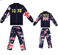 sport flags - bala_bala For Big Boys Flag Printed Set Children Zipper Tainging Sport Pant Outfits Tops Pants Baby Fashion Clothes Set