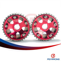 Wholesale PQY STORE Adjustable DOHC Cam Gears Alloy Timing Gear For Honda Civic B16A B16B PQY6532R