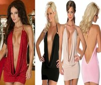 Wholesale SUPER SEXY LINGERIE CLUBWEAR V NECK WOMENS DRESS COSPLAY COSTUME Evening Cocktail Dresses RETAIL
