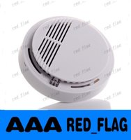 Wholesale Wireless Fire Smoke detector sensor alarm Home Security System White in retail package dropshipping llfa66f