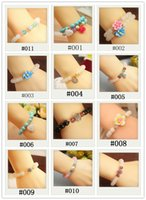 bead bracelet stretch - 2014 fashion charms beads bracelets jewelry bracelets Flower Beads Stretch Bracelet Color Beads Disco Shamballa Ball stand stretch bracelet