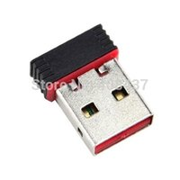 5PCS mini tarjeta de red USB WIFI 802.11 b / g / n adaptador Wi-Fi externa USB 2.0 Mini Dongle 150Mbps Wireless Ralink7601 chipset
