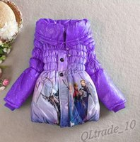 winter padded jacket - 3 color Elsa Anna down winter coat Kids thick long cotton padded clothes Jacket Coat outwear LJJA