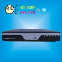 Wholesale 4CH AHD dvr channel P Realtime recording and playback network cctv dvr nvr togeter P2P ch audio input remote control view IS6104H