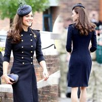 Wholesale hot selling new Kate Women s Double Breasted Cashmere Wool Coat